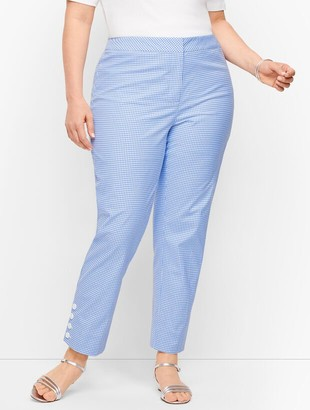 Talbots Plus Size Exclusive Gingham Slim Ankle Pants