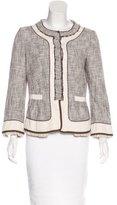 Alberta Ferretti Tweed Collarless Jacket