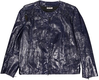 Miu Miu Purple Water snake Jacket for Women