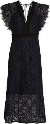 Sandro Lace Midi Dress
