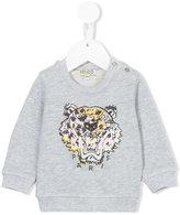 Kenzo logo print sweatshirt - kids - Cotton - 9 mth