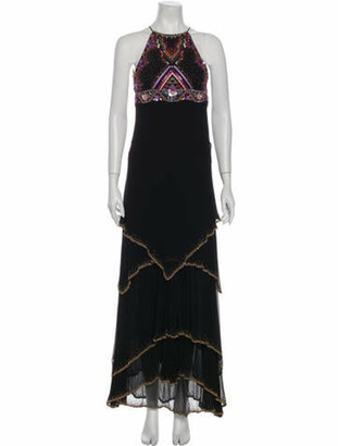 Matthew Williamson Silk Long Dress Black