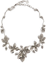 Oscar de la Renta Gradient Crystal Flower Necklace