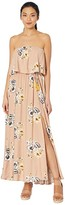 American Rose Iva Off-the-Shoulder Floral Maxi Dress (Nude/Multi) Women's Dress