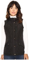 Lauren Ralph Lauren Faux Leather Trim Quilted Vest