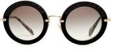 Miu Miu Noir round-frame sunglasses
