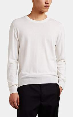 Maison Margiela Men's Fine Cotton Crewneck Sweater - White