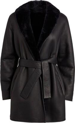 Claudie Pierlot Reversible Leather-Fur Jacket