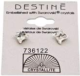Crystallite Destine Clear Pinwheel Earrings