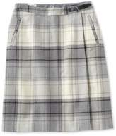 L.L. Bean Weekend Faux Wrap Skirt, Plaid