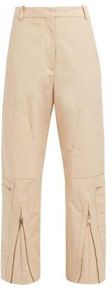 Stella McCartney Zip-front Cotton-blend Trousers - Light Pink