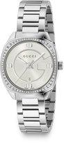Gucci 29mm Stainless Steel Bracelet Watch w/ Diamond Bezel
