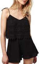Topshop Crochet Layer Romper