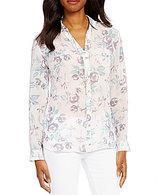 KUT from the Kloth Esperanza Long Sleeve Floral Print Button Front Shirt