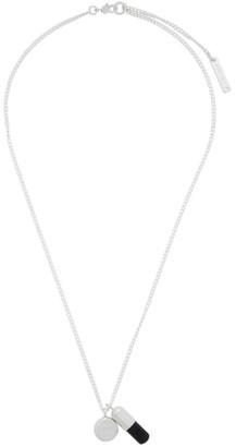 Ambush Silver and Black Pill Charm Necklace