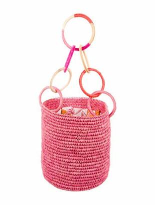 Sensi Straw Bucket Bag w/ Tags Pink
