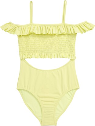 Habitual Smocked Cutout One-Piece Swimsuit