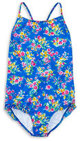 Ralph Lauren Girls 7-16 Little Girls and Girls One-Piece Floral Swimsuit