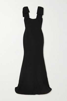 Rebecca Vallance Martini Bow-detailed Cloque Gown - Black