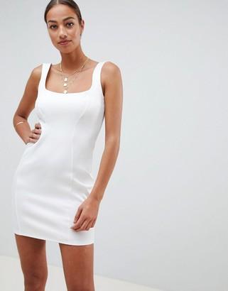 Asos DESIGN scuba 90s scoop neck mini dress