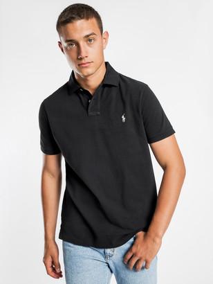 Polo Ralph Lauren Custom Slim Polo T-Shirt in Black