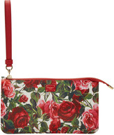 Dolce & Gabbana Red Small Rose Zip Pouch