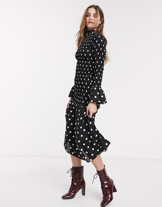 Emory Park high neck maxi dress in spot