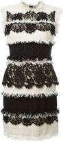 Lanvin mixed tweed lace dress