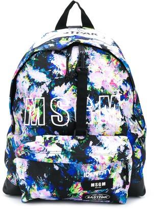 MSGM x Eastpak floral print logo backpack