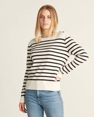 Le Mont St Michel Sailor Striped Button Shoulder Sweater
