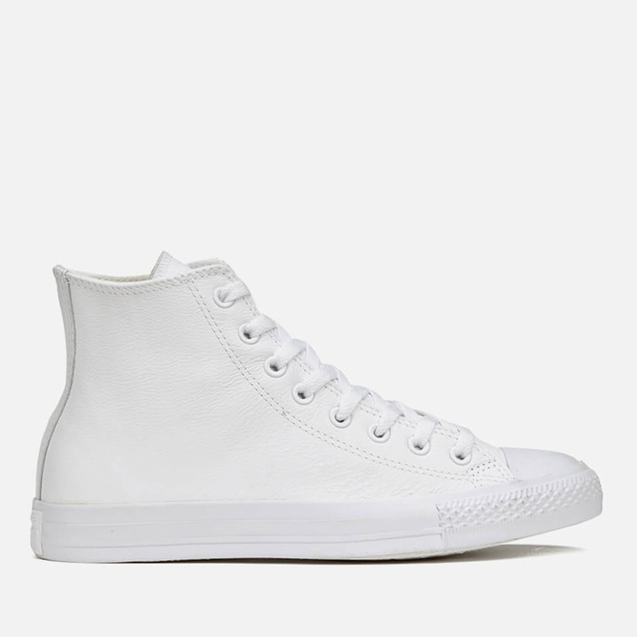 c740eb169f408 Chuck Taylor All Star Leather Hi-Top Trainers - White Monochrome