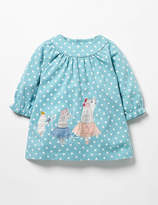 Boden Winter Animals Appliqué Dress