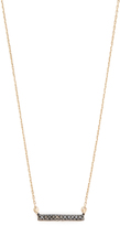 Adina 14k Gold Black Diamond Pave Bar Necklace
