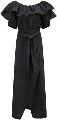 Paper London Gaga Bandeau Wrap-Style Dress - Black