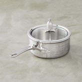 Ruffoni Omegna Hammered Stainless-Steel Saucepan