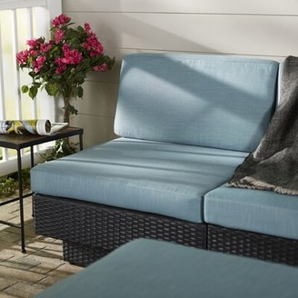 Chretien Patio Middle Seat Chair with Cushion Brayden Studio