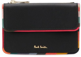 Paul Smith Striped Trim Coin Pouch