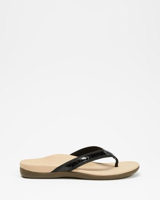 Vionic Women's Black All thongs - Casandra Toe Post Sandals - Size One Size, 5 at The Iconic