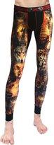 Neleus Men's Cotton Compression Skin Long Johns Pants,145,Dark Blue & Camo,S,Tag L