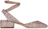 Jimmy Choo Vicky Glittered Leather Pumps - Antique rose