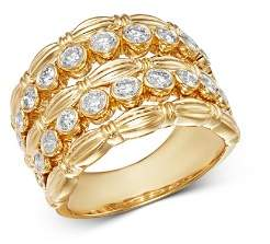 Bloomingdale's Diamond Five-Row Statement Band in 14K Yellow Gold, 1.05 ct. t.w. - 100% Exclusive
