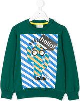 Fendi cactus print sweatshirt - kids - Cotton/Spandex/Elastane - 4 yrs