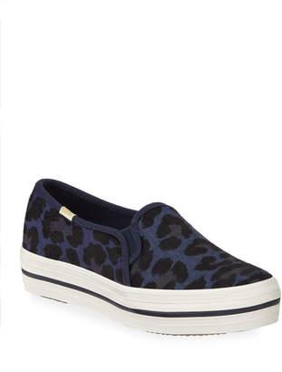 Keds Triple Decker Leopard-Print Sneakers