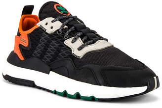adidas Nite Jogger in Black & Grey & Orange | FWRD