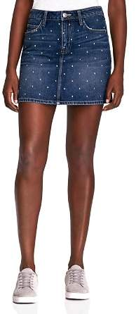 Current/Elliott Studded Denim Mini Skirt