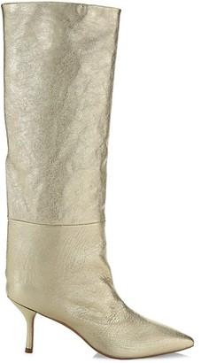 Stuart Weitzman Magda Mid-Calf Leather Boots