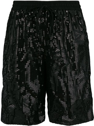 P.A.R.O.S.H. Sequinned Drawstring Shorts