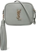 Saint Laurent Monogramme Blogger Leather Shoulder Bag - Gray green