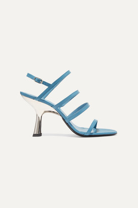 Simon Miller Strappy Tee Leather Slingback Sandals - Blue