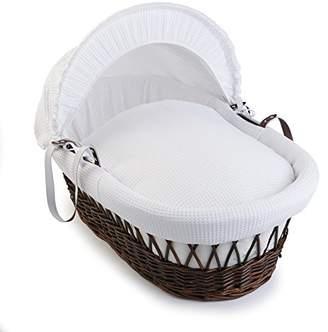 Clair De Lune Waffle Dark Wicker Moses Basket